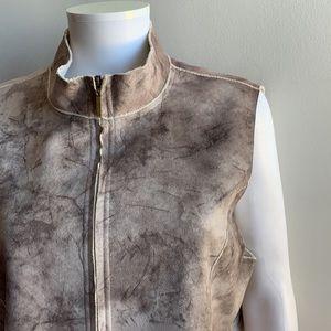 Soft Brown/Tan Vest Alfred Dunner